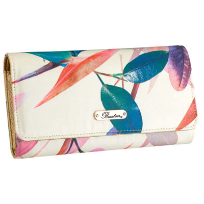 Buxton Bianca File Organizer RFID Blocking Clutch Wallet