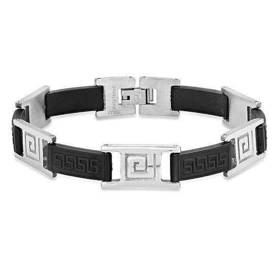 Steeltime Stainless Steel Link Bracelet
