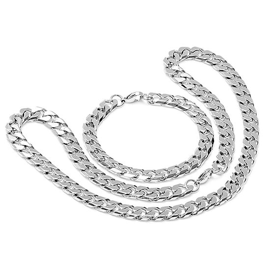 Steeltime Stainless Steel 2-pc. Jewelry Set