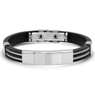 Steeltime Stainless Steel Id Bracelet