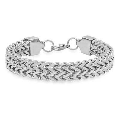 Steeltime Stainless Steel Solid Box Chain Bracelet