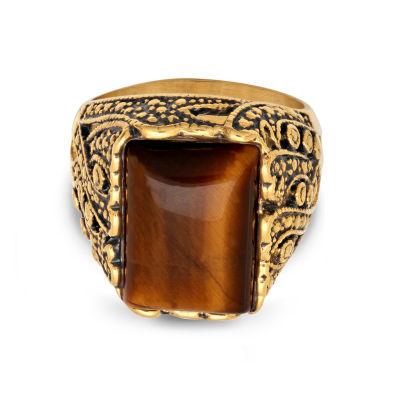 Steeltime Mens Emerald Brown Tiger's Eye