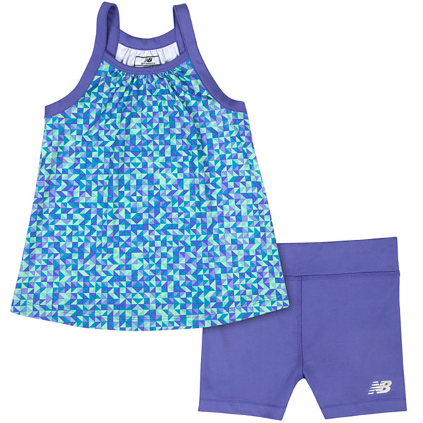 New Balance 2-pc. Short Set Girls
