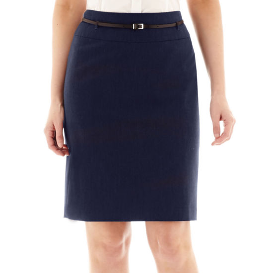 Liz Claiborne® Belted Pencil Skirt