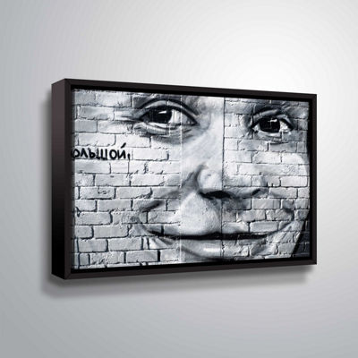 Brushstone Graffiti Smile 3 Gallery Wrapped Floater-Framed Canvas Wall Art