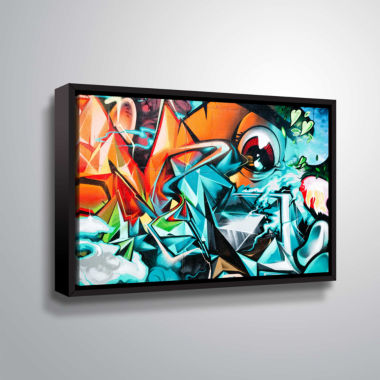 Brushstone Grafit 17!!! Gallery Wrapped Floater-Framed Canvas Wall Art