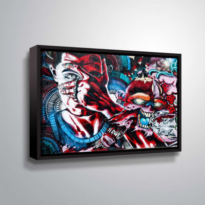Brushstone Grafit 26-3!!! Gallery Wrapped Floater-Framed Canvas Wall Art
