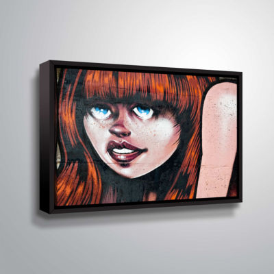 Brushstone Grafit 45 Gallery Wrapped Floater-Framed Canvas Wall Art