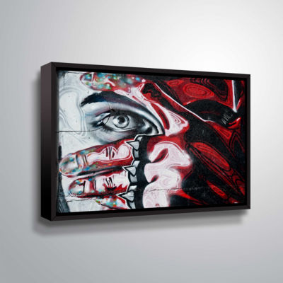 Brushstone Grafit 48 Gallery Wrapped Floater-Framed Canvas Wall Art