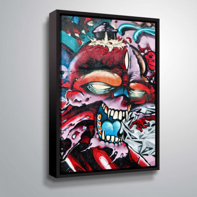 Brushstone Grafit 50 Gallery Wrapped Floater-Framed Canvas Wall Art