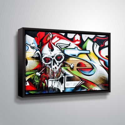Brushstone Grafit 53 Gallery Wrapped Floater-Framed Canvas Wall Art
