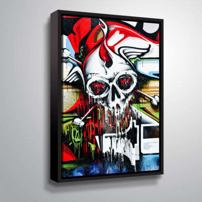 Brushstone Grafit 56 Gallery Wrapped Floater-Framed Canvas Wall Art