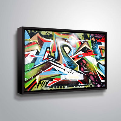 Brushstone Grafit 65 Gallery Wrapped Floater-Framed Canvas Wall Art