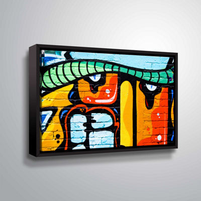 Brushstone Graffiti 33 ! Big Gallery Wrapped Floater-Framed Canvas Wall Art
