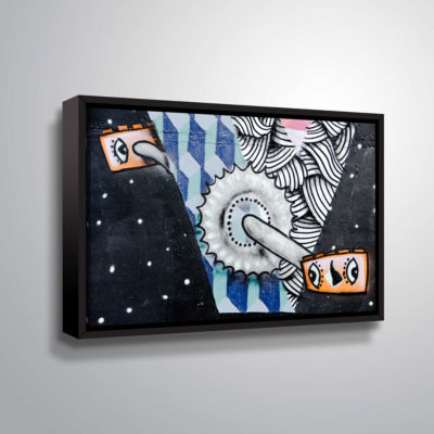 Brushstone Graff10 Gallery Wrapped Floater-FramedCanvas Wall Art