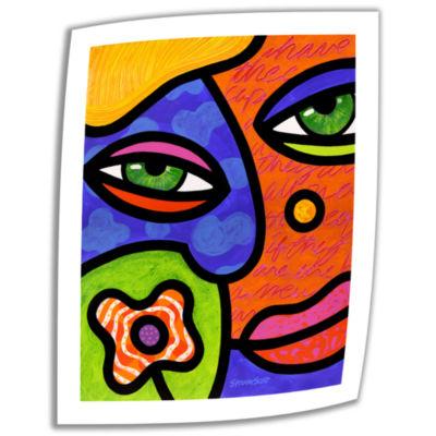 Brushstone Shirley Whirley Canvas Wall Art