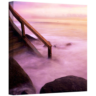Brushstone To Somewhere Gallery Wrapped Canvas Wall Art