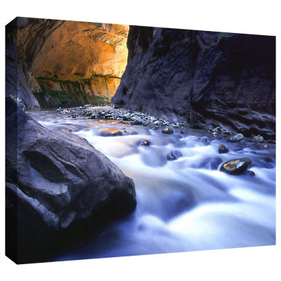 Brushstone Wirgin Narrows By Dean Uhlinger GalleryWrapped Canvas Wall Art