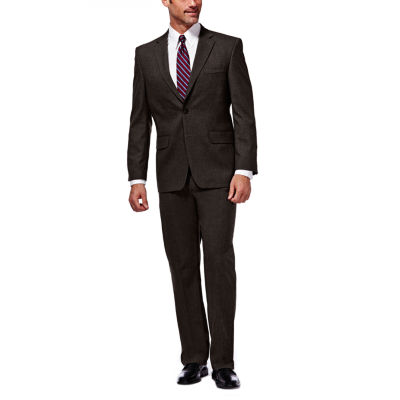 J.M. Haggar Premium Stretch Sharkskin Classic Fit Chocolate Suit Jacket