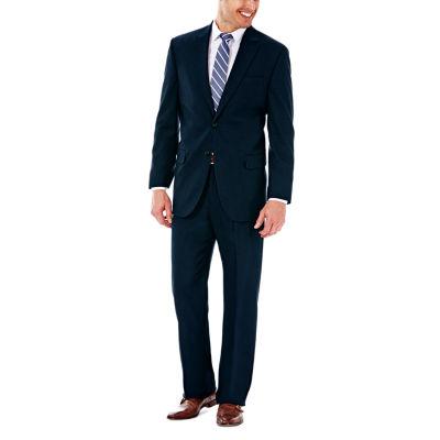J.M. Haggar Premium Stretch Sharkskin Classic Fit Dark Navy Suit Jacket
