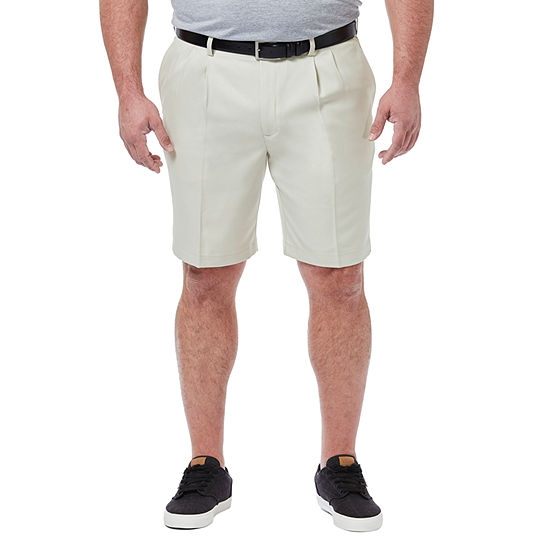 Haggar Cool 18 Pro Classic Fit Solid Pleated Shorts – Big and Tall