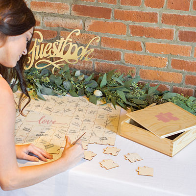 """Cathy's Concepts Love Wedding Guestbook Puzzle"""