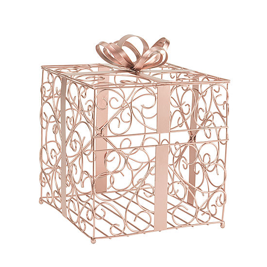 """""""Cathy's Concepts Metallic Rose Gold Reception Gift Card Holder"""""""