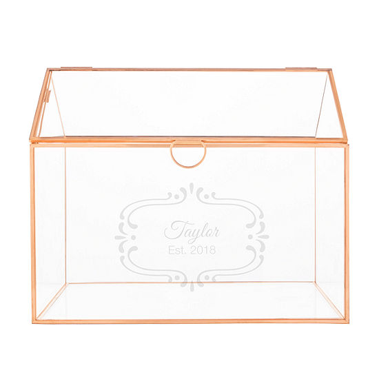 Cathy's Concepts Personalized Glass Gift Card Holder