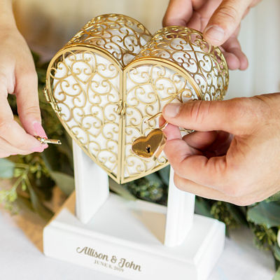 """Cathy's Concepts Personalized Heart Vow Unity Keepsake"""