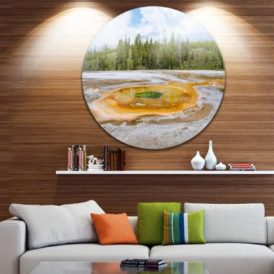 Design Art Chromatic Morning Glory Pool LandscapePhotography Circle Metal Wall Art