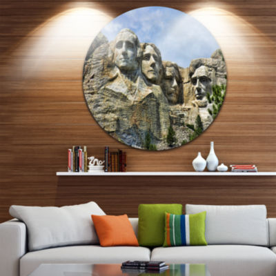 Design Art Mount Rushmore South Dakota Circle Metal Wall Art