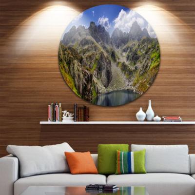 Design Art Tatra Mountains Panorama Landscape Photo Circle Metal Wall Art