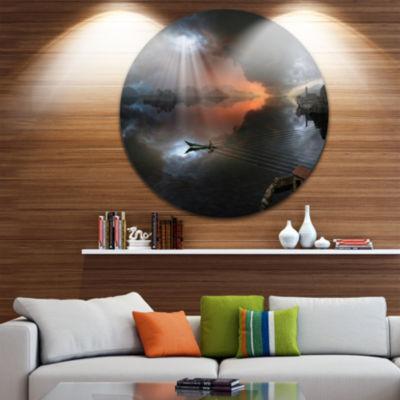 Design Art High Water Photo Collage Circle Metal Wall Art
