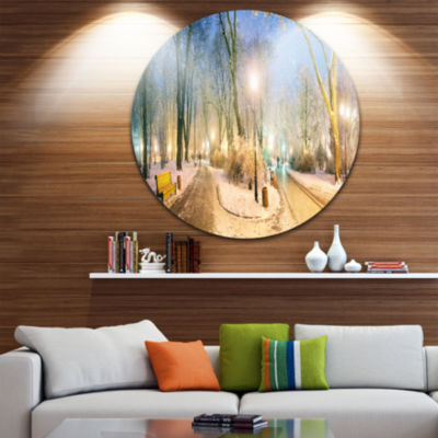 Design Art Mariinsky Garden Wider View Circle Metal Wall Art