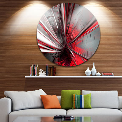 Design Art Fractal 3D Deep into Middle Circle Metal Wall Art