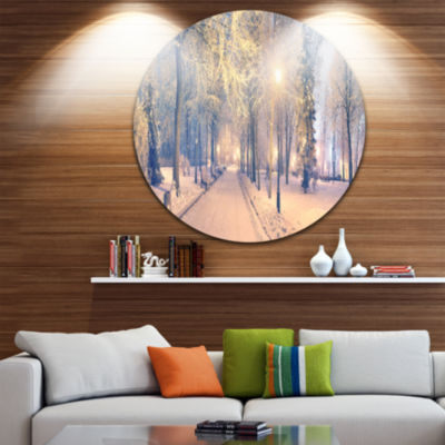 Design Art Light up Mariinsky Garden View Circle Metal Wall Art