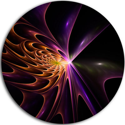 Design Art Fractal 3D Colored Bulgy Circles CircleMetal Wall Art