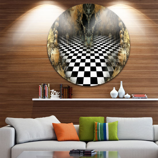 Design Art Geometric Composition Wide View CircleMetal Wall Art