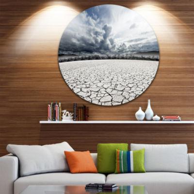 Design Art Desert Dreamscape Circle Metal Wall Art