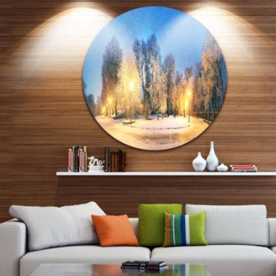 Design Art Mariinsky Garden Tough Weather Circle Metal Wall Art
