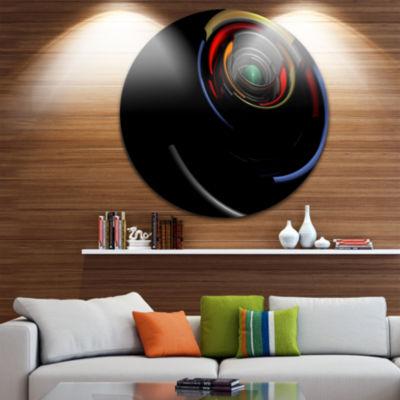 Design Art Fractal 3D Circled Stripes Circle MetalWall Art