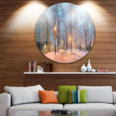 Design Art Mariinsky Garden Panoramic View CircleMetal Wall Art