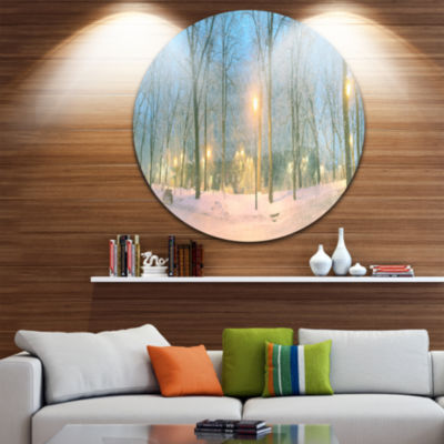 Design Art Mariinsky Garden with Lights Circle Metal Wall Art