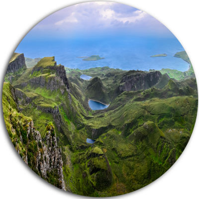 Design Art Quiraing Skye Highland Scotland CircleMetal Wall Art