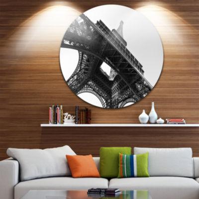 Design Art Paris Eiffel Towerinto the Sky Circle Metal Wall Art