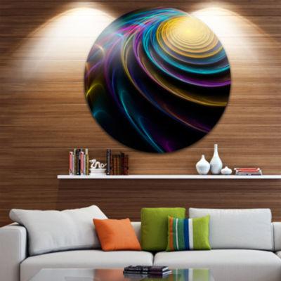 Design Art Fractal 3D Colored Bulgy Circles CircleMetal Wall Art