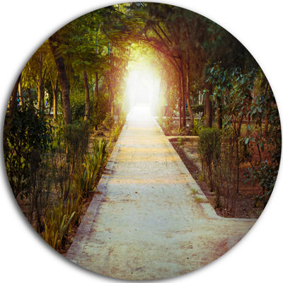 Design Art Path to Magical Mystery Woods Circle Metal Wall Art