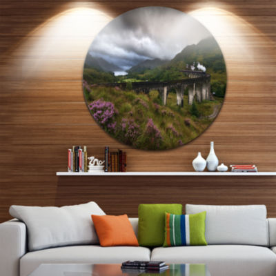 Design Art Glenfinnan Viaduct Scotland Circle Metal Wall Art