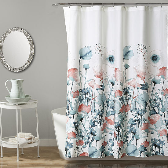 Lush Décor Zuri Flora Shower Curtain