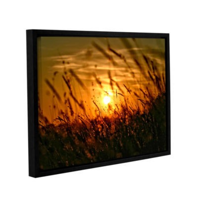Brushstone An Evening With The Quiet Voice GalleryWrapped Framed Canvas Wall Art